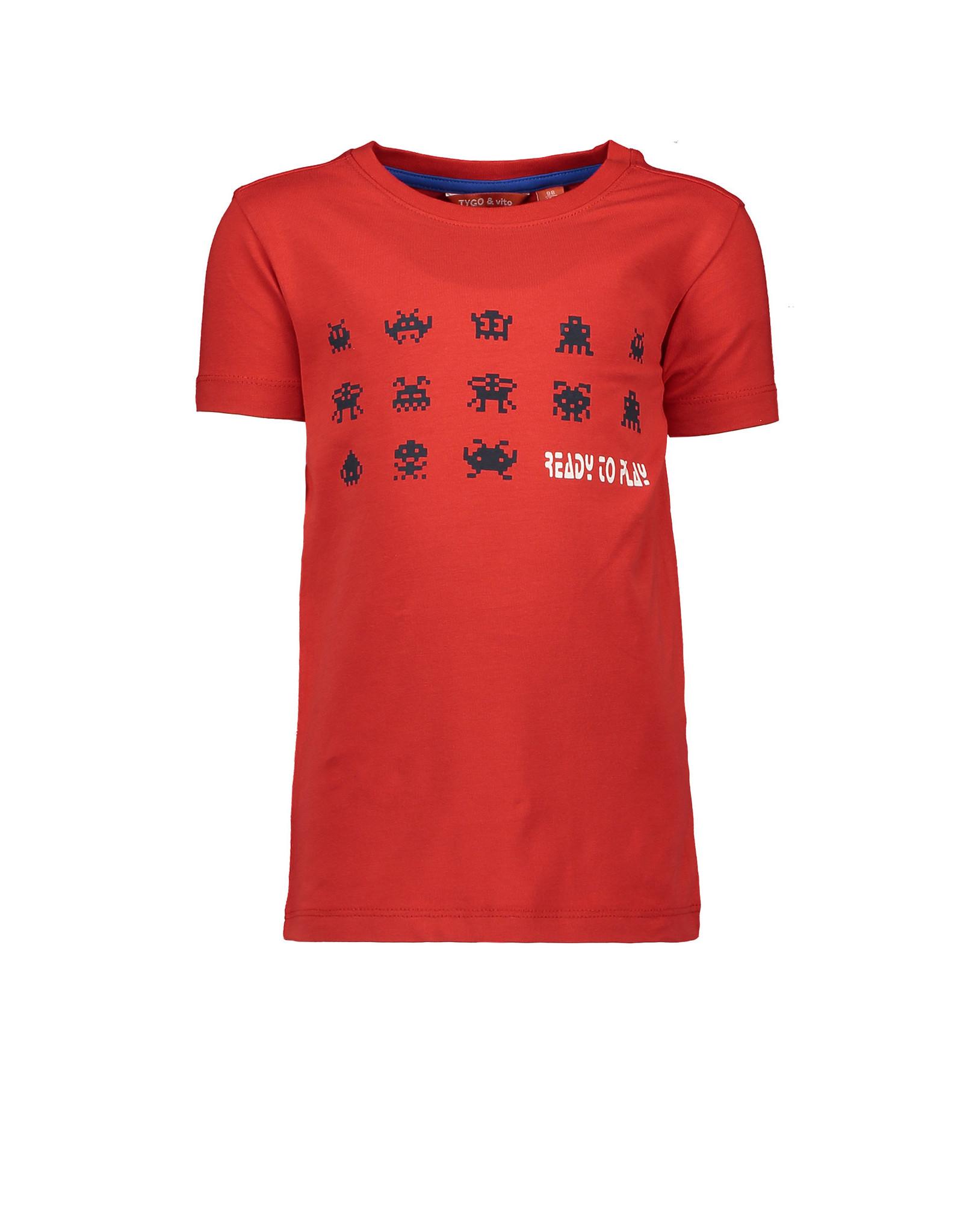 TYGO & Vito TYGO & Vito T-Shirt SS Ready To Play-Red