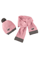 Moodstreet Moodstreet Girls 2 pc set accessories (hat and scarf) Light Pink