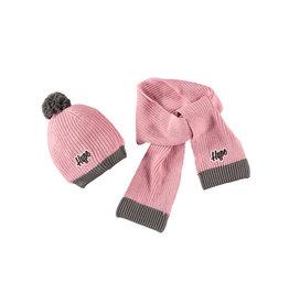 Moodstreet Moodstreet Girls 2 pc set accessories (hat and scarf) Light Pink