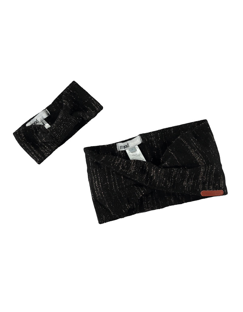 Moodstreet Moodstreet Girls 2pc set accessories (headband/scarf) Nearly Black