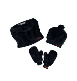 Moodstreet Moodstreet Girls 3pc set accessories (hat/scarf/gloves) Navy