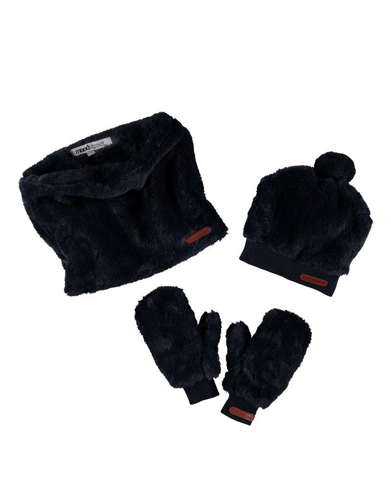 Moodstreet Moodstreet Girls 3pc set accessories (hat/scarf/gloves) Navy
