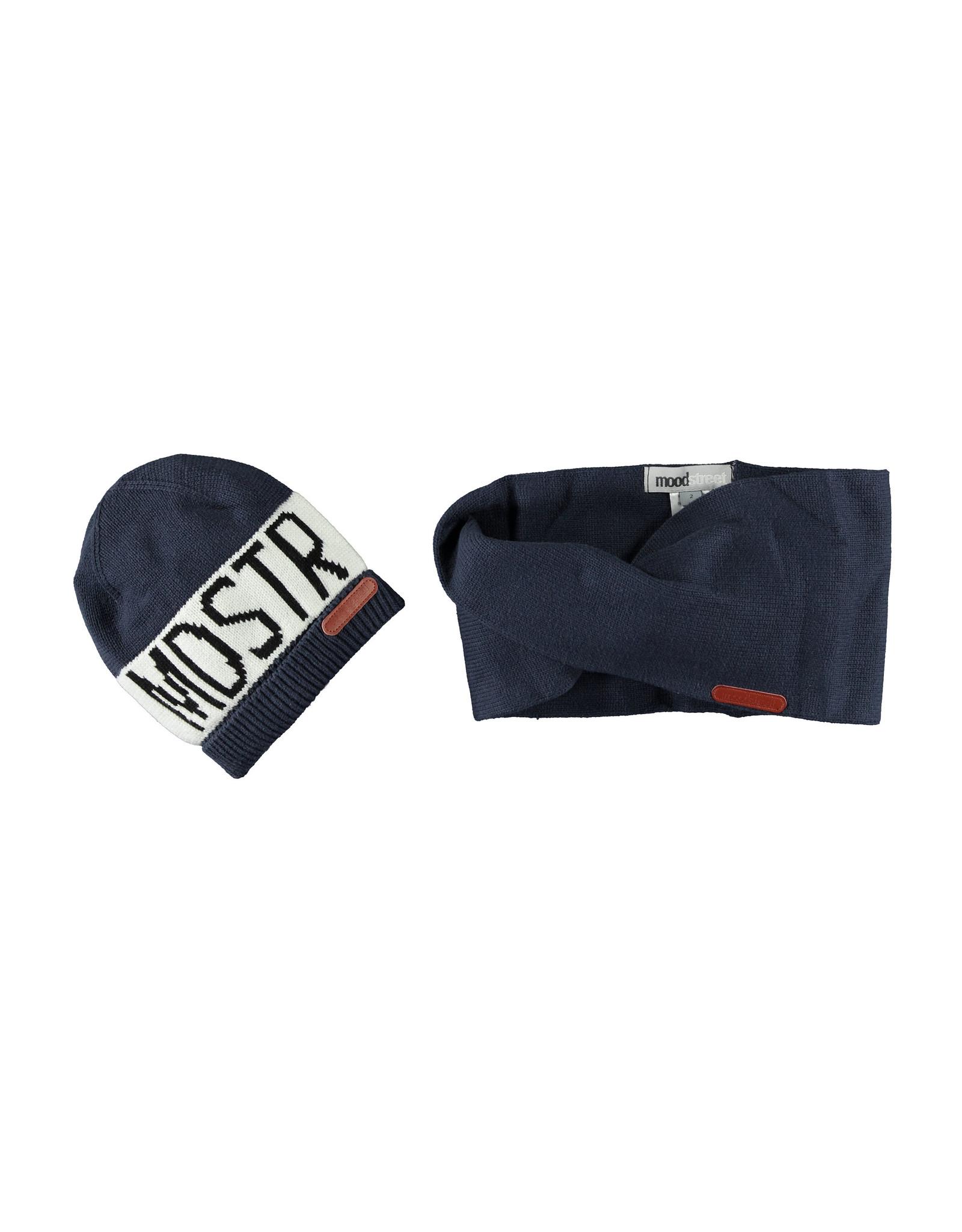 Moodstreet Moodstreet Boys 2pc set accessories (hat/scarf) Navy
