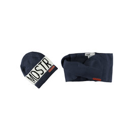 Moodstreet Moodstreet Boys 2pc set accessories (hat/scarf) Navy