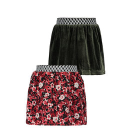 Like Flo Like Flo Girls Reversible AO Skirt- Flower