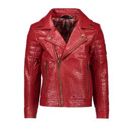 Like Flo Like Flo Girls Imitation Leather Biker Jacket Terra