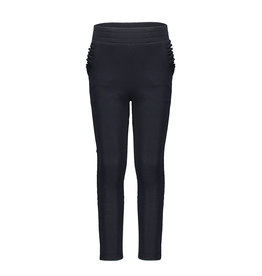 Like Flo Like Flo Girls Crepe Pants Ruffle pkt Navy