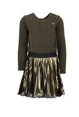 Le Chic Le Chic dress glitter plissee skirt Fields of Gold