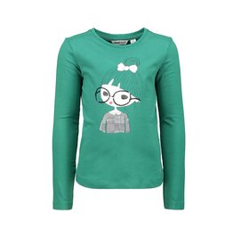 Moodstreet Moodstreet t-shirt applique and sequins Green