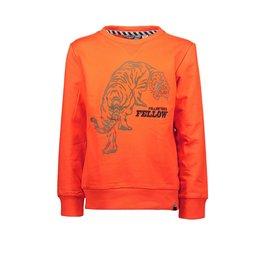 Moodstreet Moodstreet solid sweater chestprint Orange