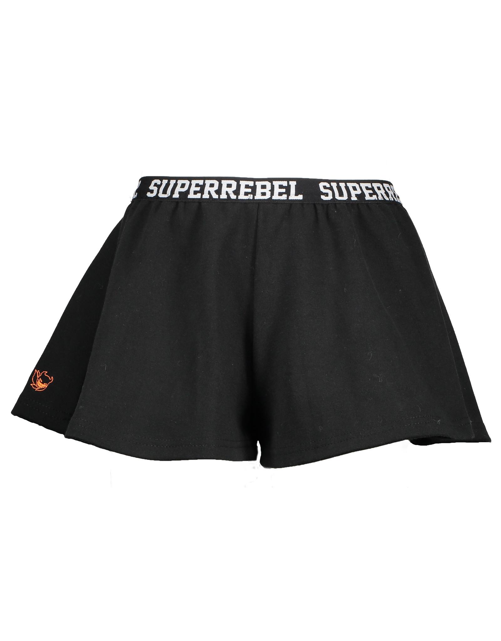 Super Rebel SuperRebel- Girls Culottes Interlock-Black