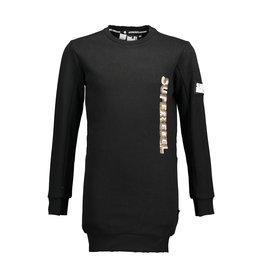 Super Rebel SuperRebel- Girls Round Neck Sweater Dress-Black