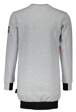 Super Rebel SuperRebel-Girls Round Neck Sweater Dress-Grey Melee