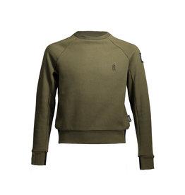 Super Rebel SuperRebel-Boys Round Neck Sweater Raglan-Army Green