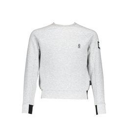 Super Rebel SuperRebel-Boys Round Neck Sweater Raglan-Grey Melee