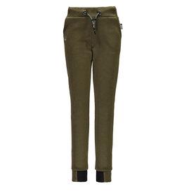 Super Rebel SuperRebel-Boys Plain Interlock Trousers-Army Green