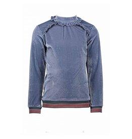 NONO NONO-Kasa LS Rib T-Shirt-Dark Grey Blue