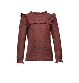 NONO NONO Kessa glitter tshirt with ruffled details Light Gold