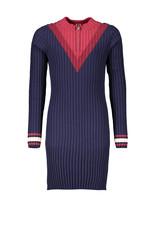 NoBell NoBell-Maly Knitted Dress-Navy Blazer