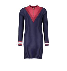 NoBell NoBell-Maly Knitted Dress-Navy Blazer