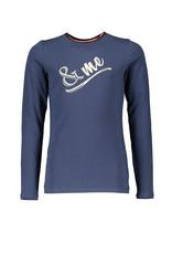 NoBell NoBell-Kus LS T-Shirt- Artwork Chest-Navy Blazer