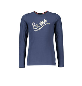 NoBell NoBell-Kus LS T-Shirt- Artwork Chest-Navy Blazer