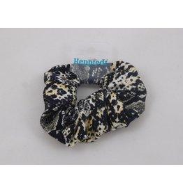 Heppiedi Heppiedi Scrunchie Slangenprint zwart/wit/oker
