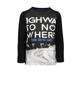 TYGO & Vito TYGO & Vito T-shirt Longsleeve digital HIGHWAY TO NOWHERE Black
