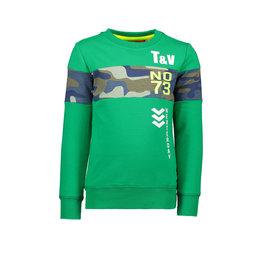 TYGO & Vito TYGO & Vito Sweater TV No.73 All over print Insert Green