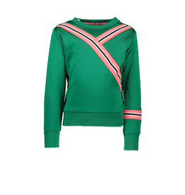B.Nosy B.Nosy Girls Sweater with rib on sleeve and Body Emerald Green