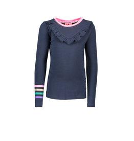 B.Nosy B.Nosy Girls Shirt with Ruffle print Ink Blue