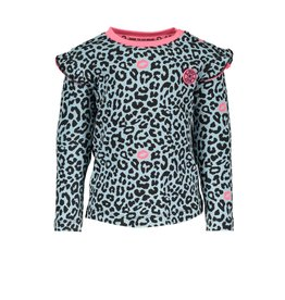 B.Nosy B. Nosy Baby Girls AO Print with Ruffle Panther Kiss