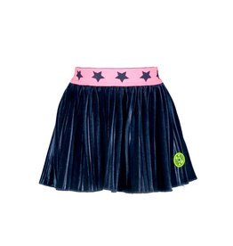 B.Nosy B. Nosy Baby Girls Velvet Plisse Skirt Ink Blue