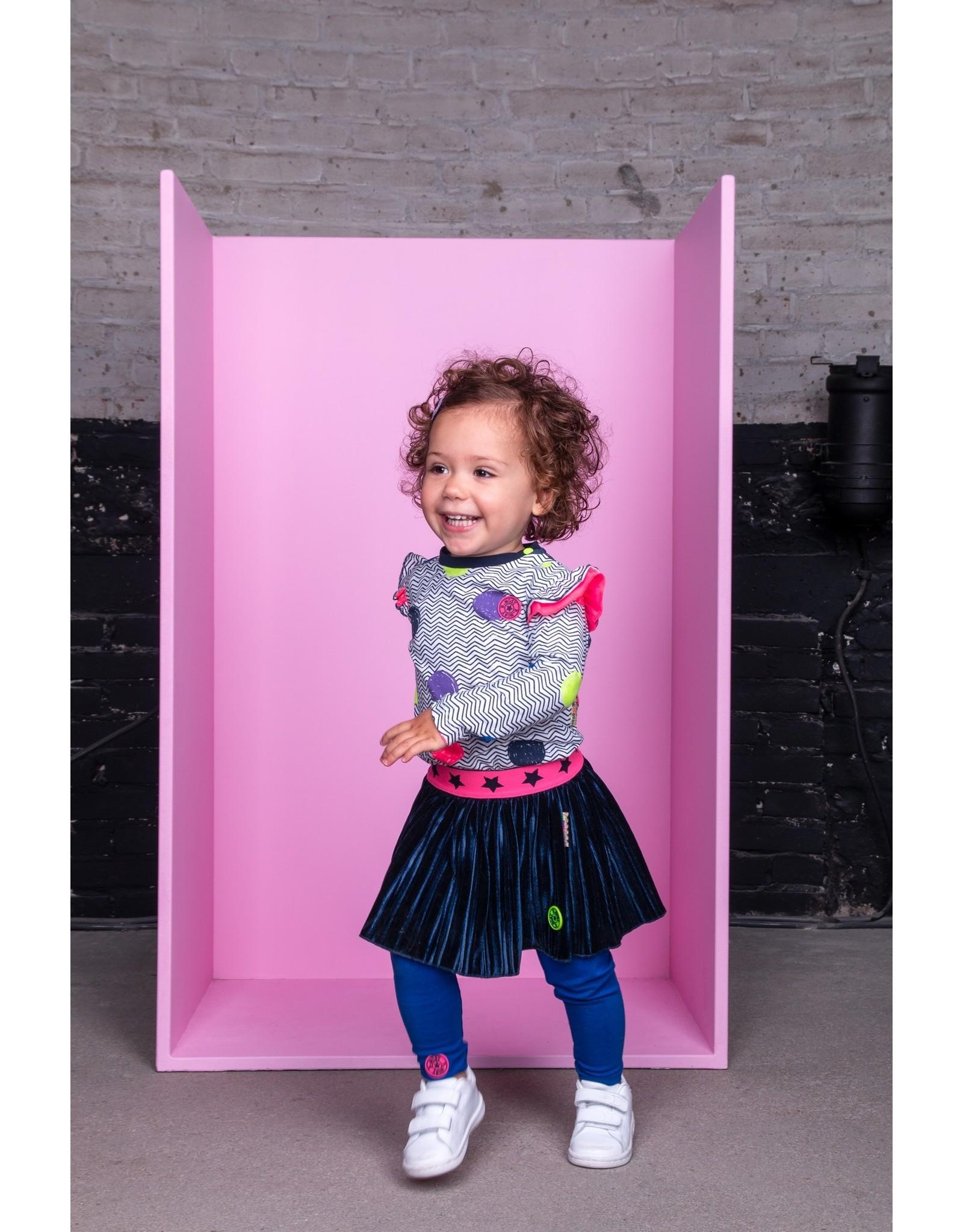 B.Nosy B. Nosy Baby Girls Velvet Plisse Skirt Ink Blue