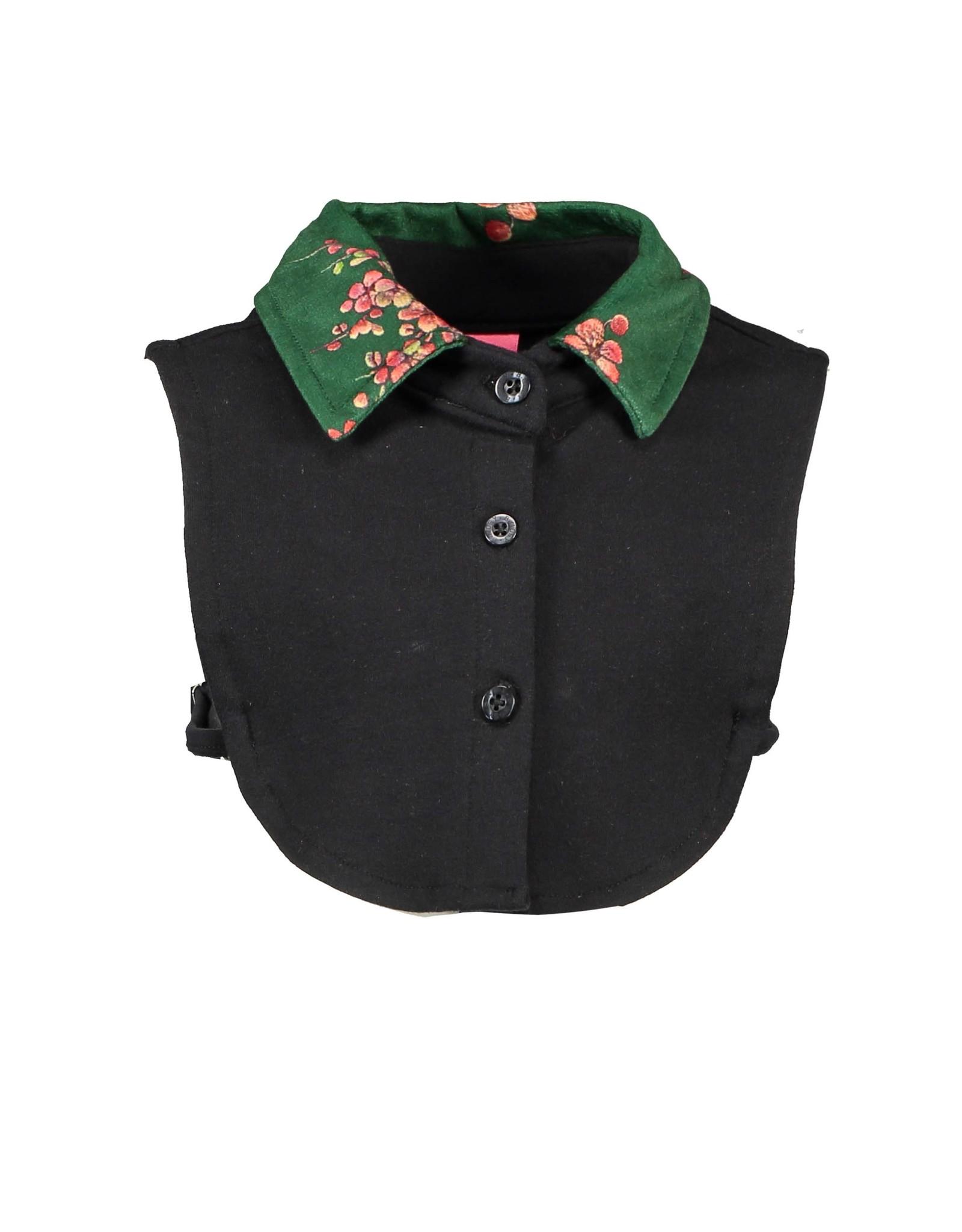 B.Nosy B.Nosy Girls Collar with printed velours Black