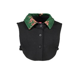 B.Nosy B.Nosy Girls Collar with printed velours Black