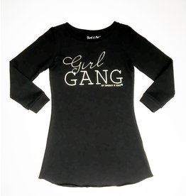 Shout it Out Shout it Out Sweatdress Girl Gang Black