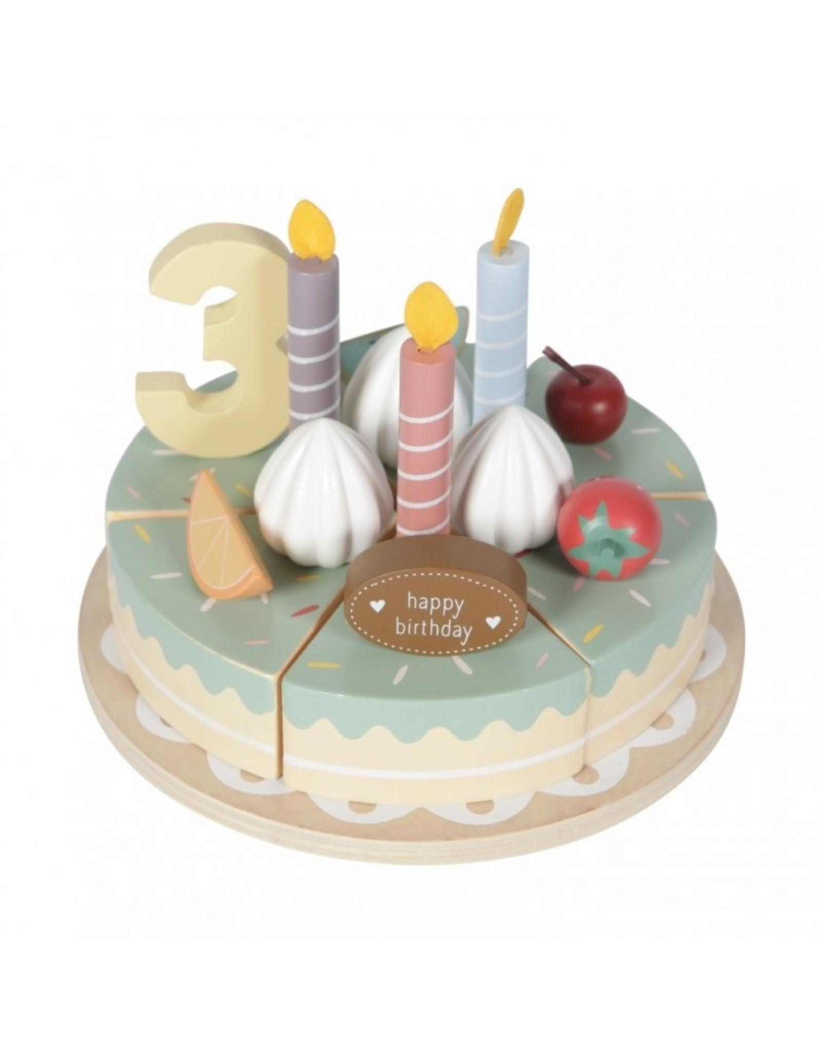 Tiamo Little Dutch Houten Verjaardagstaartje 26 delig