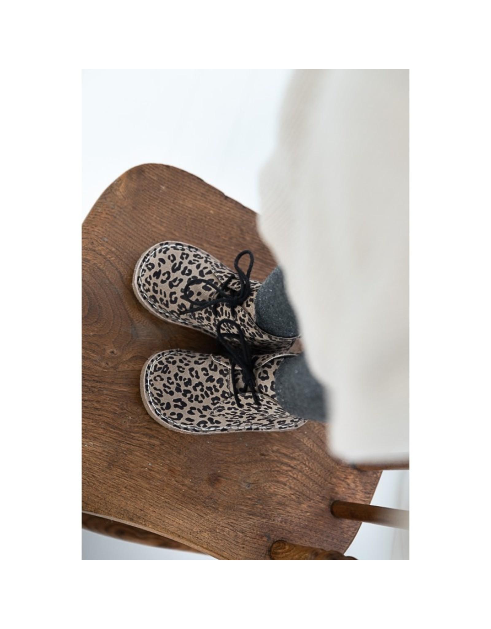 Mockies Mockies Kids Boots Leopard Grey