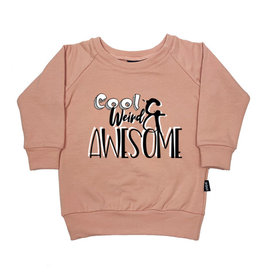 "KMDB KMDB Baby Sweater Echo ""Cool Weird Awesome"" Nude Roze"