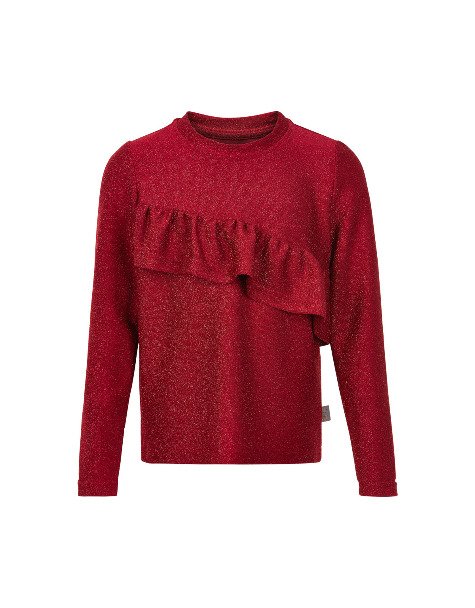 Creamie Creamie T-shirt Glitter Jersey Longsleeve Crimson