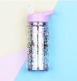 A little lovely company A Little Lovely Company- Drink Bottle Glitter- Pink/Multicolour