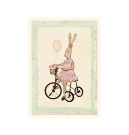 Maileg Maileg Kaart Rabbitgirl on bike