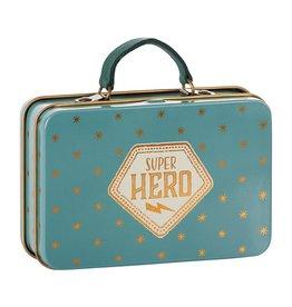Maileg Maileg Metal Suitcase Blue, Gold Stars