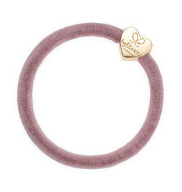 By Eloise By Eloise Velvet Gold Heart Champagne Pink
