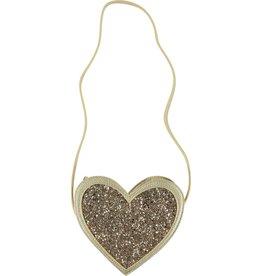Molo Molo Heart Bag Gold Glitter