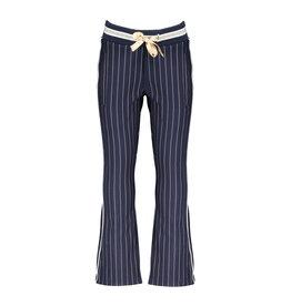NONO NONO Sahara Flared Pinstripe Pants Navy Blazer