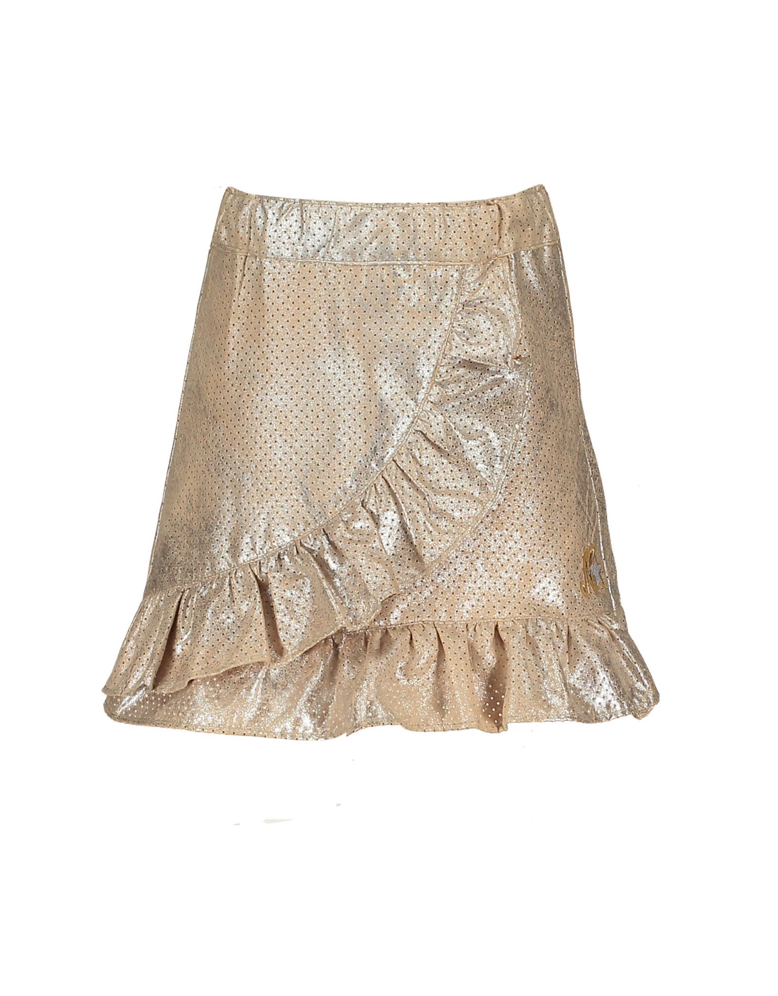 NONO NONO Navis Perforated Suede Skirt with Ruffle