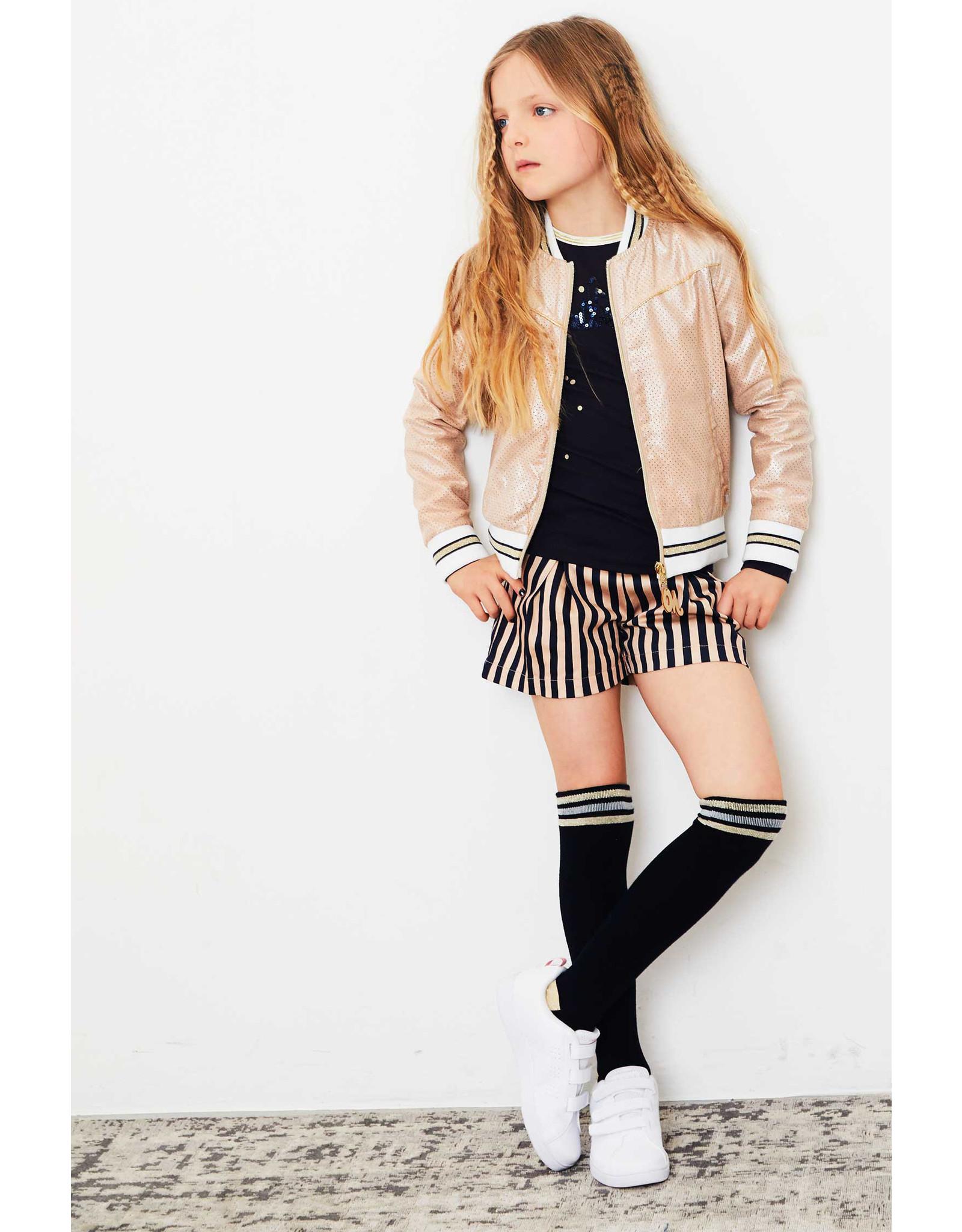 NONO NONO Splash long Sock with Stripes at top