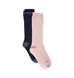 Creamie Creamie Knee Socks 2 Pack Rose Smoke